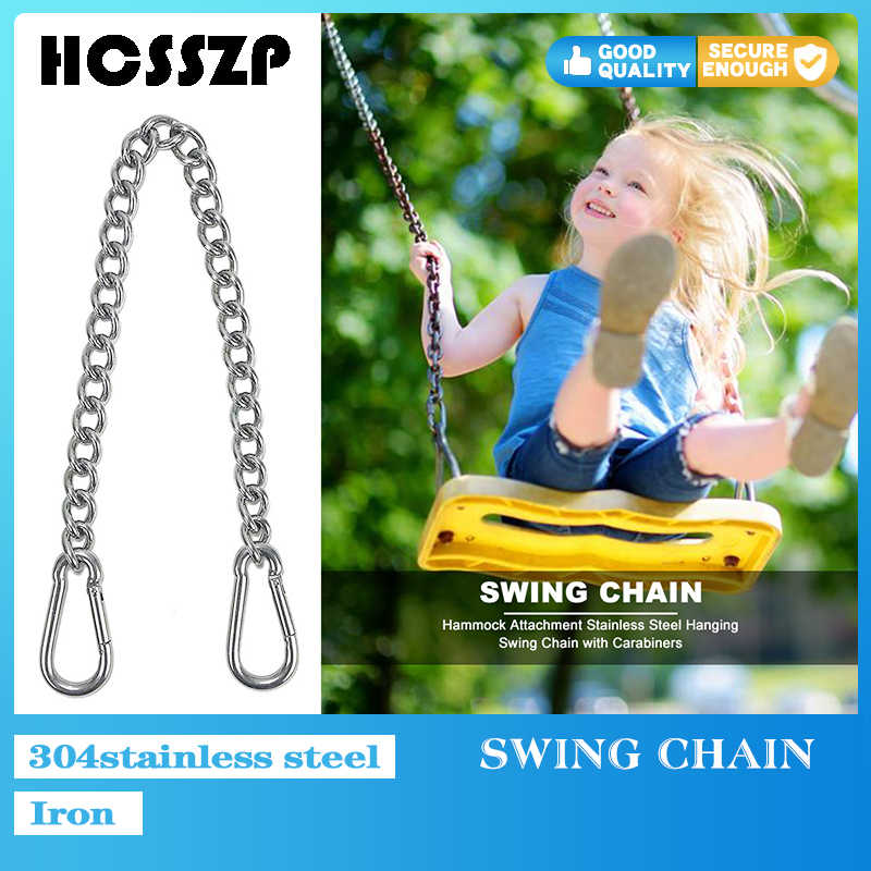 Outdoor Iron Nickel Plated Hammock Chair Swing Chain With Stainless Steel Carabiners Hanging Chair Chain For Yard Garden Patio Swings Aliexpress