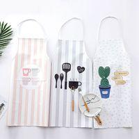 Fartuch Nordic styl Pu kreatywny fartuch koreański mody piekarnia kuchnia domu pół fartuch w Fartuchy od Dom i ogród na