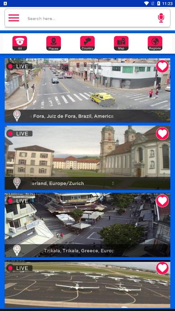 安卓全球在线摄像头 实时实景直播
