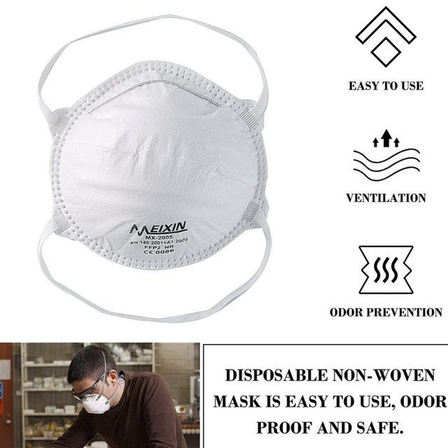 Face Masks Mouth Anti Dust Muffle Polyurethane Carbon Black Activated Filter Windproof Cotton PM2.5 3-layer Bacteria Proof Flu 5