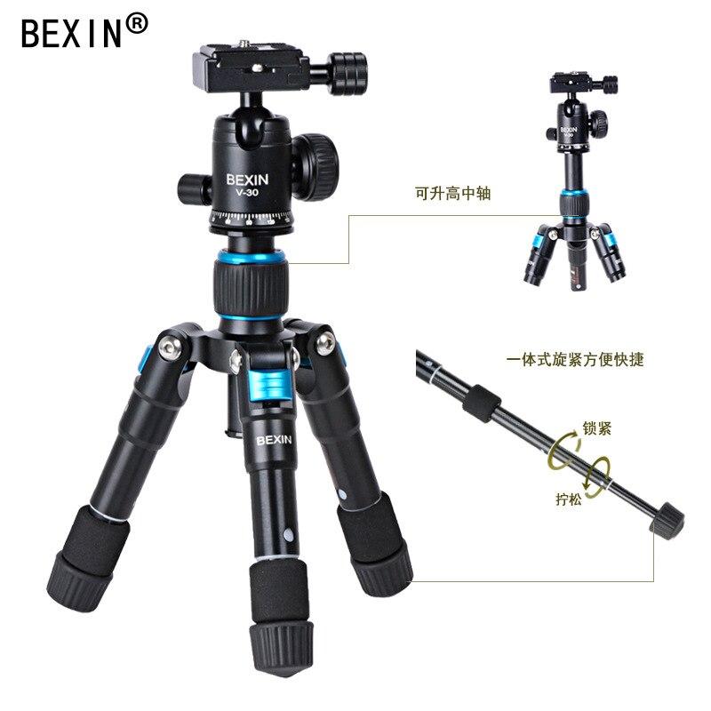 Trípode telescópico para cámara de vídeo de aleación de aluminio mesa de teléfono mini trípode móvil portátil DSLRs Mini trípode/ligero
