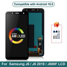 5 6 #8222 AMOLED dla Samsung Galaxy J6 2018 wyświetlacz LCD J600 J600F J600Y ekran dotykowy dla SM-J600F J600G J600FN ds montaż części tanie tanio MSMADE NONE CN (pochodzenie) Pojemnościowy ekran 3 For Samsung J6 J600 J600F J600Y LCD LCD i ekran dotykowy Digitizer