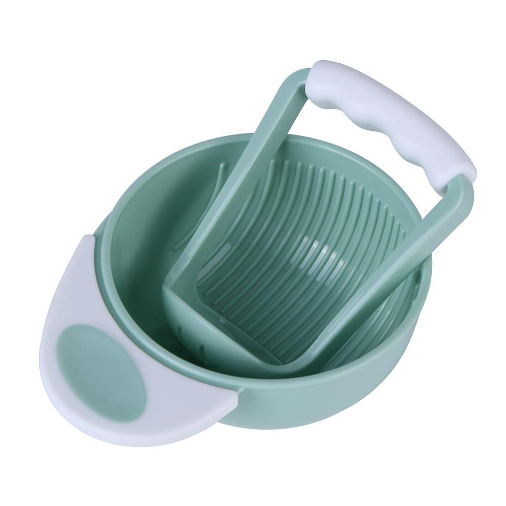 Baby Grinding Set Manual Food Grinder Bowl Rod Infant Fruit Cool Mills Tool Baby Feeding Bowl
