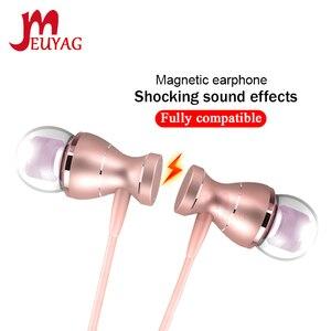 Image 1 - MEUYAG 3.5mm kablolu kulaklık Stereo kulak içi kulaklık spor koşu kulaklık kulaklık mikrofon ile iPhone Samsung Xiaomi için