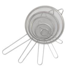 Coladores de filtro de aceite de malla fina de acero inoxidable con asas largas de 3 '', 5'', 6 '', 8'', 9,5 ''KC0072 sistema de riego de jardín trípode de acero inoxidable aspersor de impacto sistema de riego de flores de 360 grados