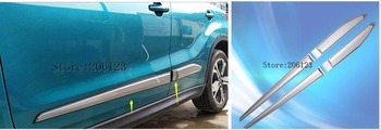 ABS Side Door Body Molding Cover Trim Protection Decoration 4 pcs / set Accessories Fit For Suzuki Vitara 2016 2017
