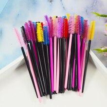 Yeni 50 adet/paket tek kullanımlık kirpik fırçalar makyaj maskara aplikatör değnek gözler dudak kozmetik fırçalar göz Lashes kozmetik fırça