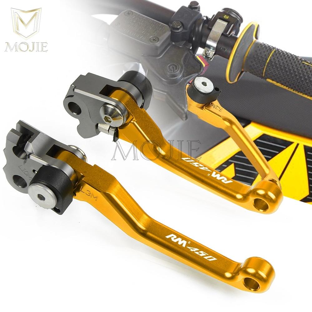 Для Suzuki RMZ450 RMZ 450 2005-2018 2017 2016 2015 2014 2013 2012 ЧПУ Рычаги поворотного тормоза сцепления мотоцикла кроссового велосипеда мотокросса