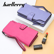 цена Baellerry Wallet Long Solid Women Wallet PU Leather Zipper Hasp Porta Handbag Photo Card Holder Interior Zipper Pocket Wallet в интернет-магазинах