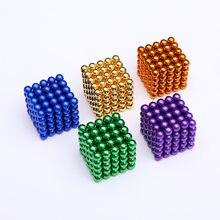 Neue Neodym Metall Magie DIY Magnet Magnetische Kugeln Blöcke 5mm Cube Bau Gebäude Spielzeug Farbenfrohes Kunst Handwerk Spielzeug