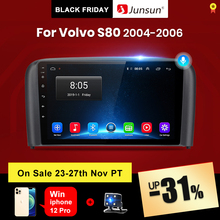 Junsun V1 pro 2G + 128G أندرويد 10 لفولفو S80 1998   2006 سيارة راديو الوسائط المتعددة مشغل فيديو الملاحة لتحديد المواقع 2 الدين dvd