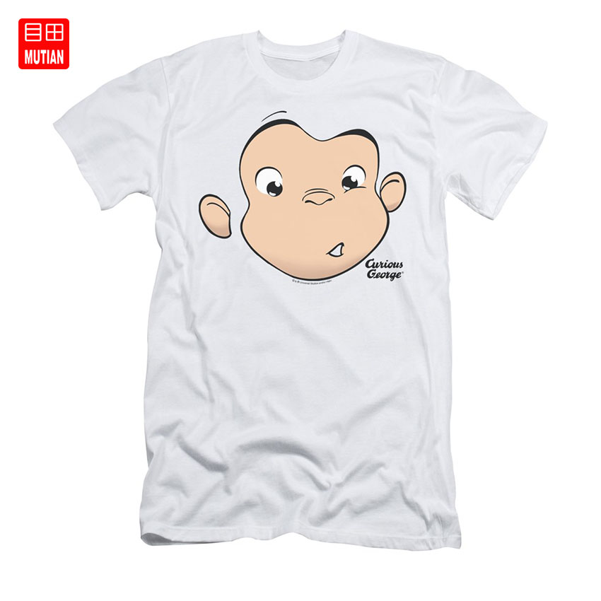 Curious George George Face T Shirt Curious George Children S Book Cartoon Monkey Tv Show Movie Bananas Monkey Cartoon Cartoon T Shirts Aliexpress
