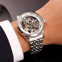 2018 QLLS Brand Skeleton Tourbillon Mechanical Watch Automatic Men Classic Gold steel Mechanical Wrist Watches Reloj Hombre|hombre|hombre reloj|  -
