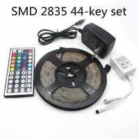 ИК 44 клавишный набор СВЕТОДИОДНАЯ лента SMD 2835 DC 12V RGB световая лента Водонепроницаемая Вечеринка неоновая 5 метров 300 светодиодов/рулон 5 м 10 м ...