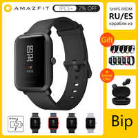 Huami Xiaomi Amazfit Bip wersja globalna smart watch angielski/hiszpański/rosyjski GPS Smartwatch Android iOS pulsometr