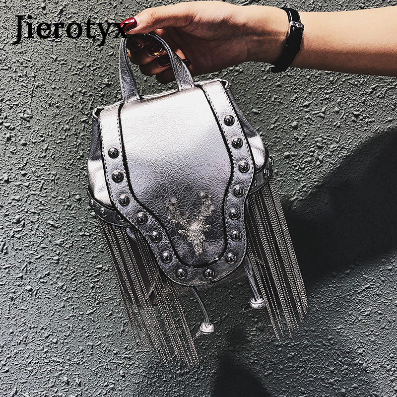 Image 4 - JIEROTYX Fashion Gothic Rock Leather Vintage Retro Steampunk Handbag Shoulder Bag Coin Purse Holder Women Messenger Bag 2020Top-Handle Bags   -