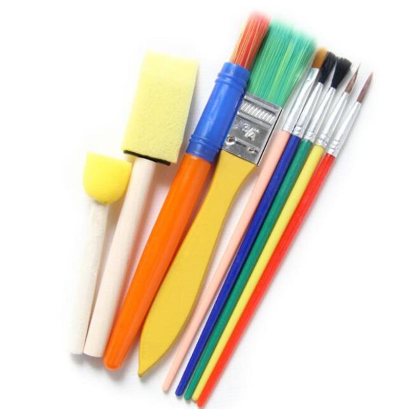 Creative Children Painting Brush Fashion Graffiti Sponge Brush Diy Early Education Art Supplies For Kids