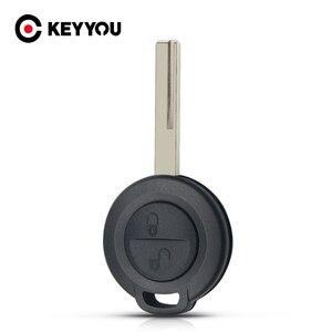 Keyyou para mitsubishi colt warior carisma spacestar chave escudo sem corte lâmina em branco 2 botão do carro caso da capa chave fob