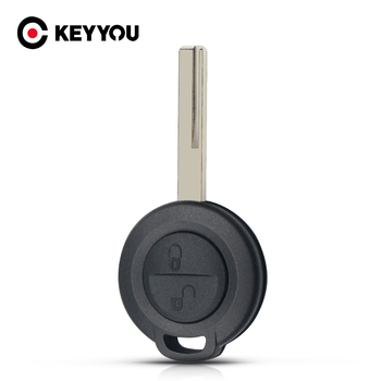 KEYYOU для Mitsubishi Colt Warior Carisma Spacestar, чехол для ключа, без выреза, пустое лезвие, 2 кнопки, чехол для автомобильного ключа, Fob