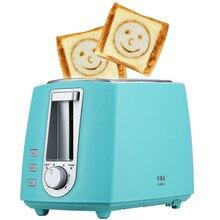 Электрический тостер из нержавеющей стали, Бытовая Автоматическая хлебопечка, машина для завтрака, тост, сэндвич, гриль, духовка, 2 ломтика