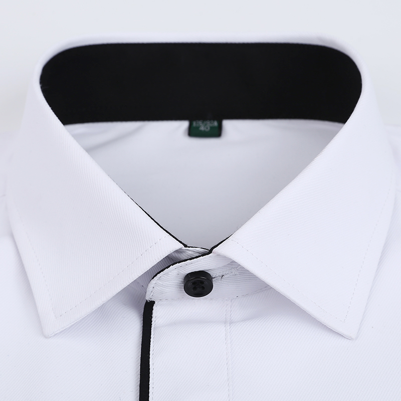 Autumn New Men Shirt Smart Casual Long Sleeved Button Down Male Twill Shirts Formal Business White Blouse 4XL 5XL 3