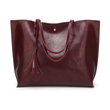 Tote Bag Large Women's Leather Handbags High Quality Female Pu Leather