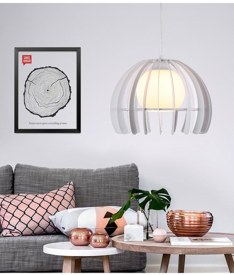 ZISIZ Современный Железный светодиодный светильник, современный подвесной светильник для ресторана, кафе, бара, гостиной, спальни, чердачные лампы, украшающие - Цвет корпуса: Белый