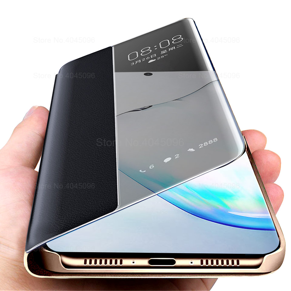 Smart wake shut phone <font><b>Case</b></font> For Samsung Galaxy <font><b>Note</b></font> 10 Plus <font><b>Cases</b></font> For Samsung S10 E S9 S8 Plus <font><b>Note</b></font> 8 <font><b>9</b></font> 10 A40 A50 A70 Cover Capa image