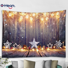 OHEART Christmas Background Snowflake Star Baby Photography Backgrounds Photographic Backdrops For Photo Studio Fireplace Wood photography backdrop winter scene snowflake photo shoot studio backdrops christmas photographic background printed