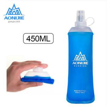 AONIJIE Outdoor Sports składana miękka woda butelka 250ML-600ML butelka na wodę TPU bezpłatna torba z płynącą wodą talia torba kamizelka maraton tanie i dobre opinie CN (pochodzenie) 401 ml-500 ml
