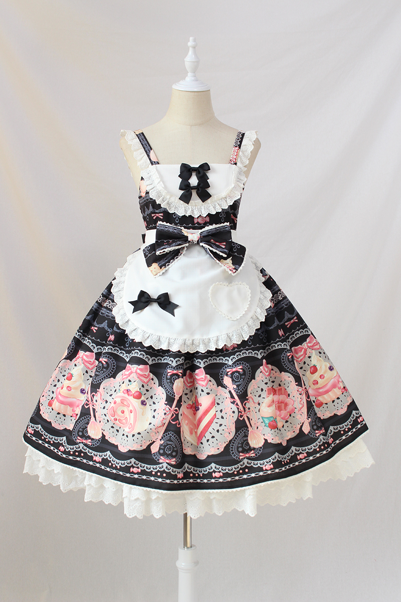 Sweet Desert Printed Lolita JSK Dress with Apron by Alice Girl ~ Limited Stock