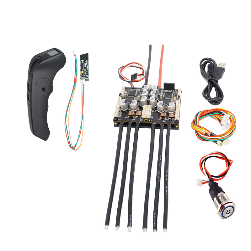 Offres spéciales télécommande d'écran vs double FSESC4.20 Plus (basé sur VESC) Combo télécommande accessoires de planche à roulettes électrique Flipsky