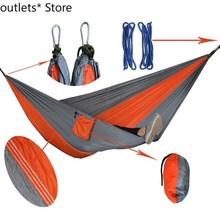 Multifunctional Outdoor Camping Double Hammock Gray Couple Hammock Indoor Leisure Swing Chair