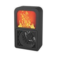 Kreative Tragbare Fan Büro Schlafzimmer Elektronische Kamin Heizung 3D Flamme Heizung Hause Desktop Heizung-in Kamin aus Heim und Garten bei