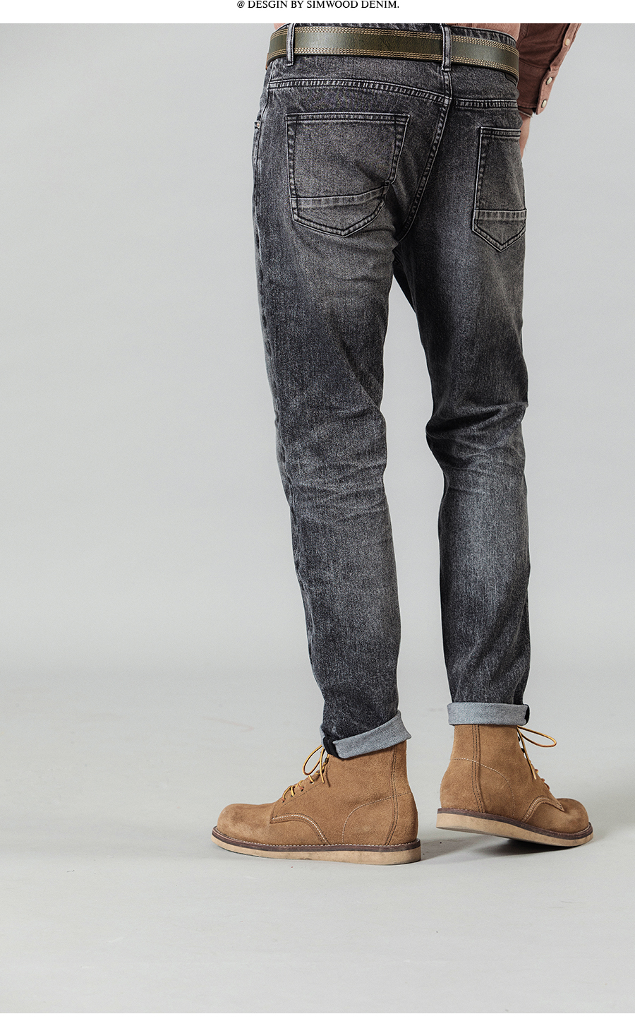 SIMWOOD 2020 New Jeans Men Classical Jean High Quality Straight Leg Male Casual Pants Plus Size Cotton Denim Trousers  180348 24
