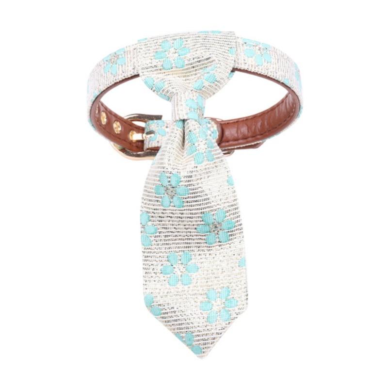 Pet pescoço gravata colar gato do cão floral destacável ajustável filhote de cachorro gatinho gravata decoração acessórios de vestuário