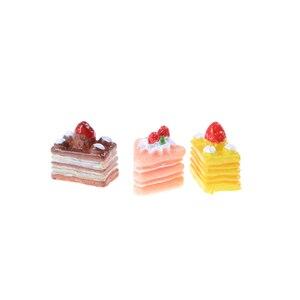 Image 5 - 5 個人工偽ミニチュアベーカリーケーキパンフルーツバナナドールハウスキッチンおもちゃクラフト DIY 装飾アクセサリー