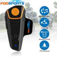 Fodsports BT-S2 Pro Motorrad Intercom Helm Headset Drahtlose Bluetooth Wasserdichte Sprech Intercomunicador Moto FM