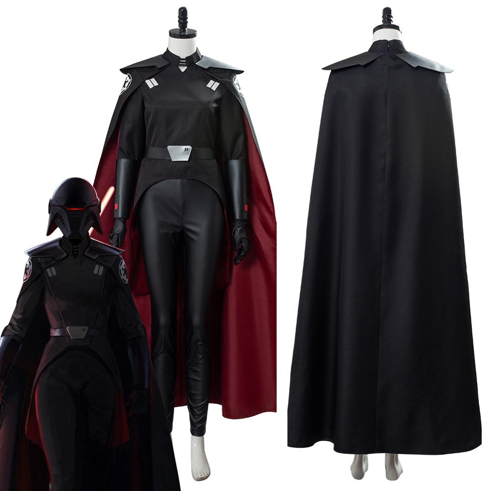 Star Cosplay Wars Jedi: Fallen Order The Second Sister Costume Adult Men Black Red Suit Cloak Robe Halloween Carnival Costumes