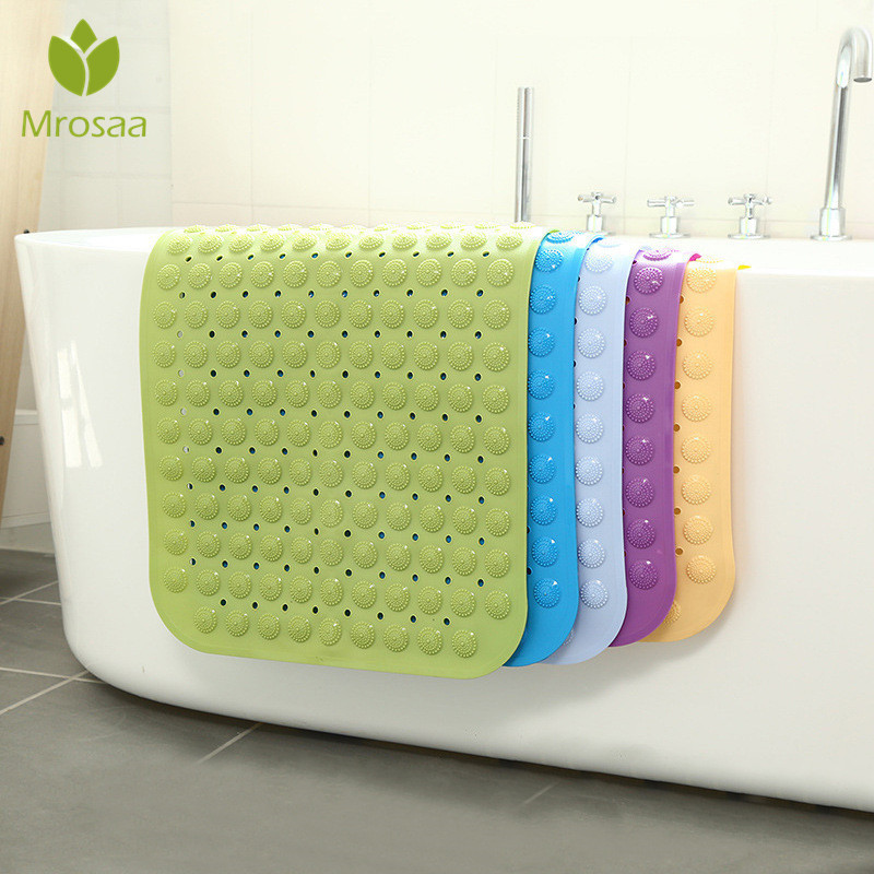 2020NEW Bath Mat 36x71cm Suction Cup Safety Shower Bathtub Mats Non Slip Bathroom Floor Mat PVC  Waterproof Massage Foot Pad