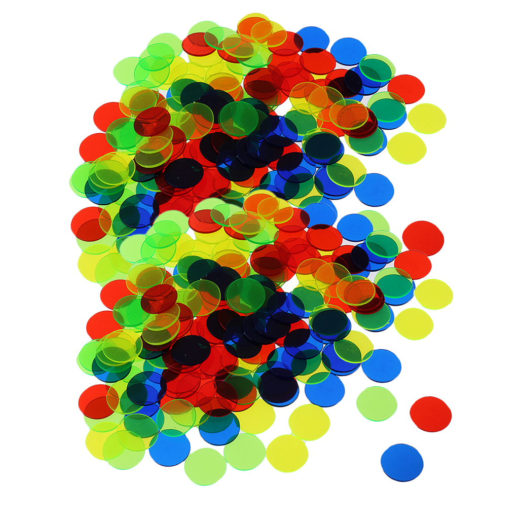 200Pcs Plastic 19mm Bingo Chips Markers For Bingo Game Poker Cards Kid Children Counters Novelty Toys Christmas Gift Mixed Color