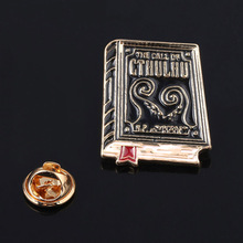 The call of cthulhu Badge Brooch HP Lovecraft Book Literature Enamel Pins Brooches for Women Men Lapel Pin Jewelry Gift