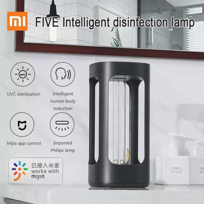 Xiaomi youpin cinco inteligente uvc lâmpada de desinfecção indução do corpo humano xiaomi mijia uv sterializer com mijia controle app