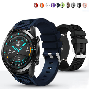 20mm 22mm Silicone Watchband for Samsung Galaxy Watch 42mm 46mm Active2 40mm 44mm Gear S2 S3 Strap Band Bracelet Active 2