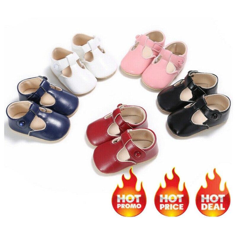 Newborn Infant Baby Shoes Boy Girl Toddler Soft Sole Crib Shoes Prewalker 0-18M