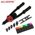 ALLSOME BT-605 инструмент для клепального пистолета ручной инструмент с заклепками 6-32 8-32 10-24 1/4-20 HT2597