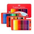 Классические масляные цветные карандаши Faber Castell, оловянный набор, 100 ярких цветов, Рисование для детей и взрослых, книжки-раскраски, рисован...