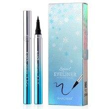 Pencil MAYCHEER Liquid-Eyeliner Make-Up Black Waterproof Silk Draw Longlasting Accurate