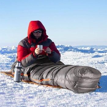 Naturehike Down sleeping bag Outdoor thickening Warm camping Single sleeping bag Adult light Mummy sleeping bag NH19YD001 5
