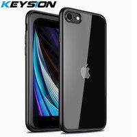 KEYSION Fashion Case per iPhone SE 2020 nuova Cover posteriore trasparente antiurto SE2 per iPhone XR XS Max X 8 7 Plus